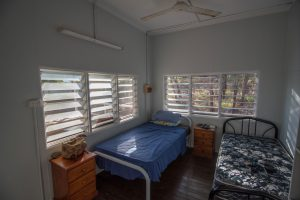Bedroom accommodation at Kuri Bay Sportfishing Tours