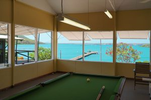 Games Room at Kuri Bay Sportfishing Tours