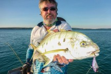 Golden Trevally Fish caught on Kuri Bay Sportfishing Tours